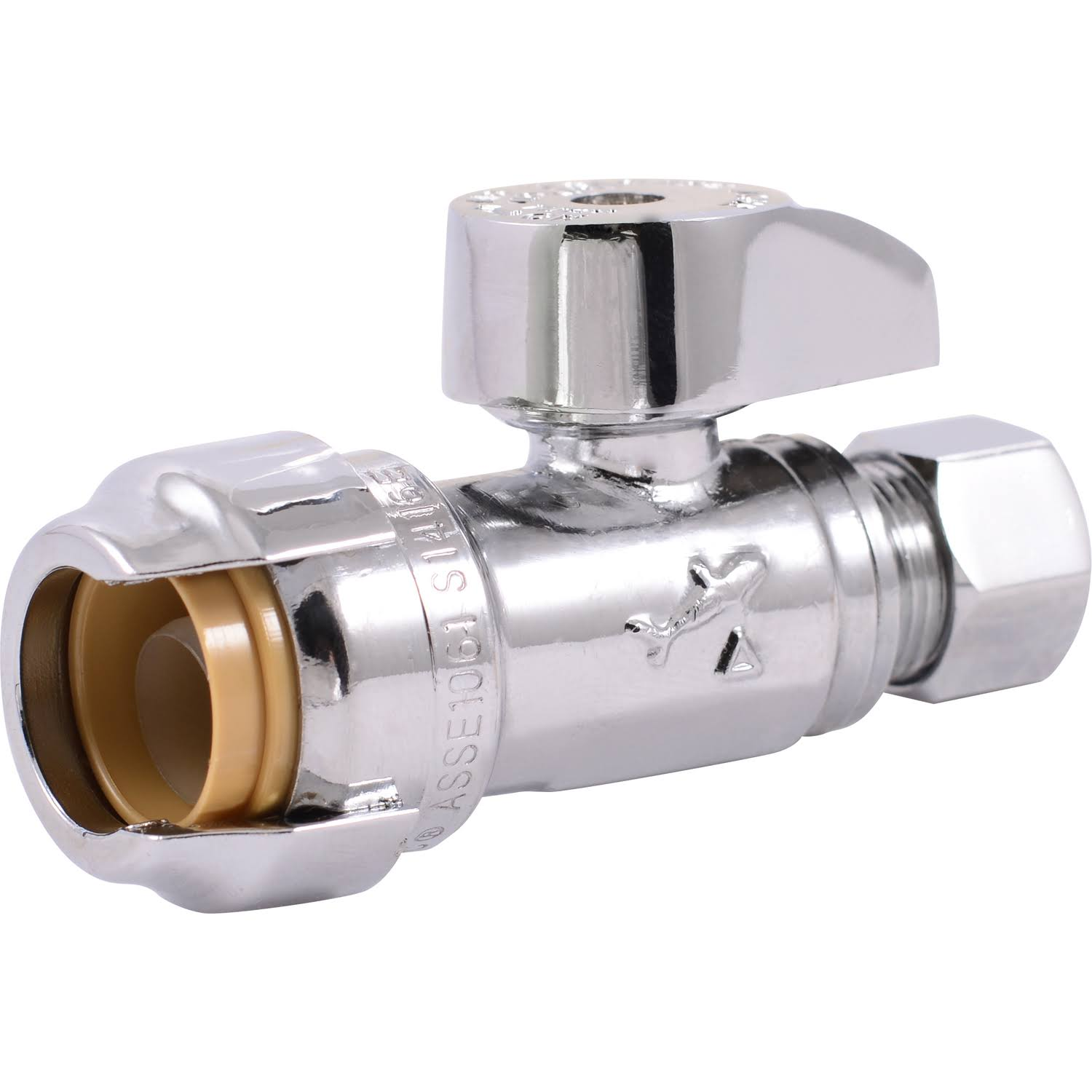 "SharkBite 23036LFA4 Compression Fitting Water Valve - 1/2"" x 3/8"""
