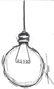 light bulb simple pencil and in color light bulb simple