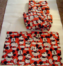 Mickey Mouse Bedding Twin by Disney Mickey Mouse Twin Bed Sheet Set Flat Fitted Pillow Case Red