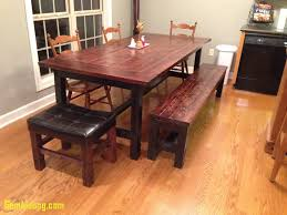 Dining Room Tables With Benches New Diy How To Build A Farmhouse Table