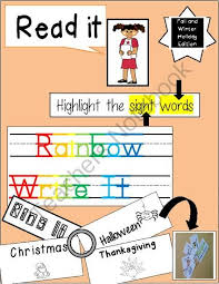 Sight Word Rainbow Writing Center Halloween Thanksgiving And Njzqkc Clipart