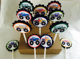 A Personal Favorite From My Etsy Shop Https://www.etsy.com/listing ... Personalised Monster Truck Edible Icing Birthday Party Cake Topper Buy 24 Truck Tractor Cupcake Toppers Red Fox Tail Tm Online At Low Monster Trucks Cookie Cnection Grave Digger Free Printable Sugpartiesla Blaze Cake Dzee Designs Jam Crissas Corner Cake Topper Birthday Edible Printed 4x4 Set Of By Lilbugspartyplace 12 Personalized Grace Giggles And Glue Image This Started
