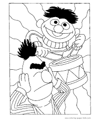 Sesame Street Color Page Cartoon Characters Coloring Pages Plate Sheetprintable