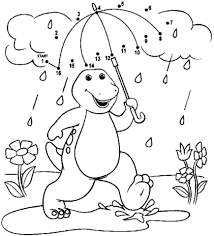 Barney Coloring Pages Printable Kids Happy Birthday Games For Toddlers Full Size