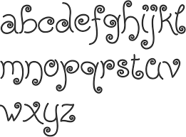 MyFonts Girly typefaces