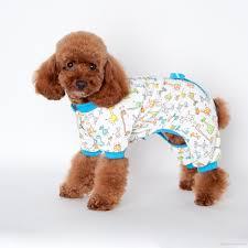 2017 new arrive pet cartoon printed cotton pajamas small dog cat
