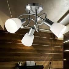 details zu deckenlicht esszimmer 3 flammig chrom glas beleuchtung le wohnzimmer licht