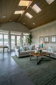Marvelous Contemporary Living Room With Cathedral Ceiling Carpet Woodhaven Plank Wood Slate