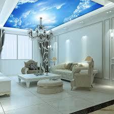 kundenspezifische wandbilder 3d blue sky decke tapete