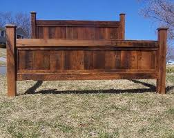 Buy a Hand Made King Size Bed Frame Made From Reclaimed Oak made