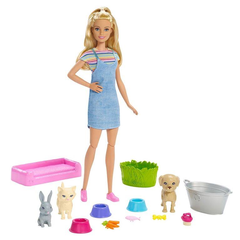 Barbie Play N Wash Pets Blonde Doll Playset