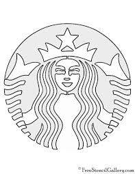Starbucks Logo Stencil