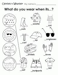 Free Coloring Pages Of Clothing Worksheet Weather Sheets For Kindergarten Mais