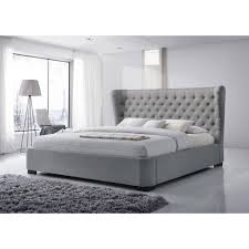 King Platform Bed With Tufted Headboard by Making Upholstered King Platform Bed Modern King Beds Design