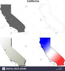 California Outline Map Set