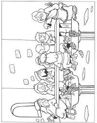 Holiday Coloring Pages New Testament Foot Washing Of The Feet