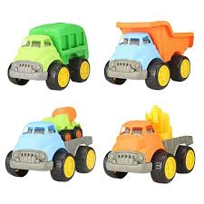 100 Types Of Construction Trucks Set Of 4 Small Different Models Vehicles Toys For