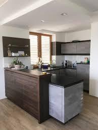 küche in betonoptik kombiniert mit holz b wohnidee