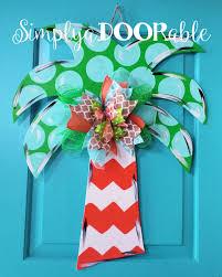 Mardi Gras Wooden Door Decorations by Palm Tree Wood Door Hanger By Simplyadoorable Palm Tree Door