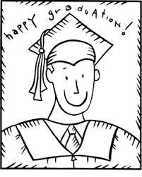 Grad Boy Coloring Pages