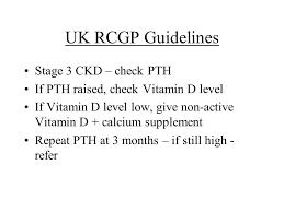 pth normal range uk update on renal bone disease dr jo july ppt