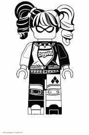 Harley Quinn Coloring Pages From Lego Movie