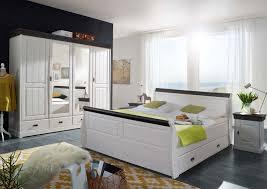 schlafzimmer set napoli 4 türiger kleiderschrank bett 180x200 u 2 nachtkonsolen pinie nordica weiss