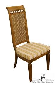 THOMASVILLE FURNITURE Bellini Collection Cane Back Dining Side Chair 0899-88 Set Of Four Ethan Allen Cane Back Ding Chairs Ebth Chair Fniture Outlet Atlanta Fair Eastgate Row Spokane Room French Provincial Cane Back Ding Chairs Thomasville Room Ideas Eight Mid Century Modern S8 Milo Baughman New Fabric Chrome Pair Vintage French Country Arm 2 Ideas On For Sale Au Uk Pwick Antiques English And Montgomery Alabama Fishmag