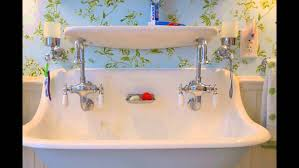 Ikea Double Faucet Trough Sink by 27 Wonderful Trough Sink Bathroom Images Inspirations Trough Sink
