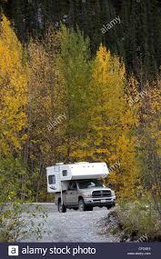 Pickup Truck Camping Camper Fall Stock Photos & Pickup Truck Camping ...