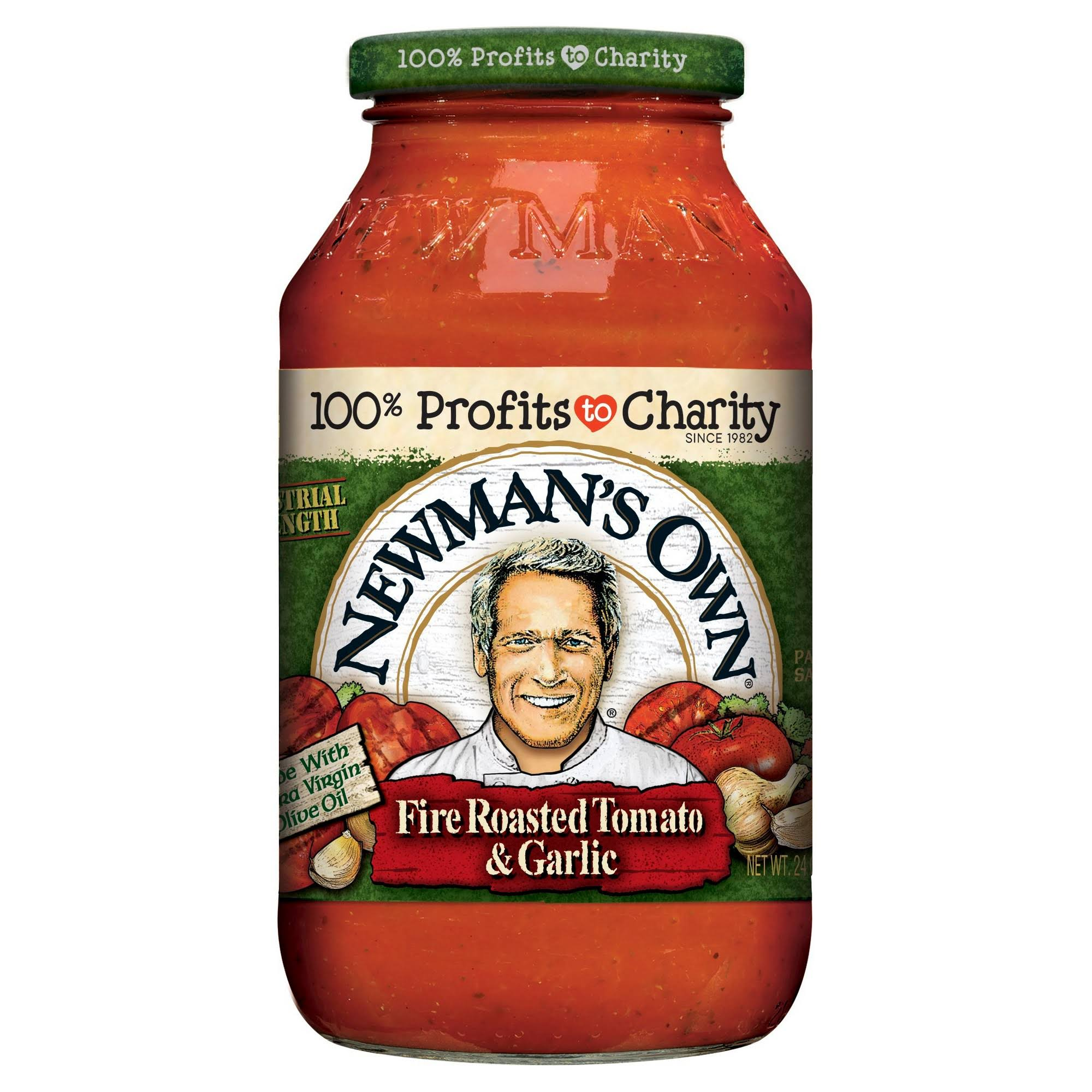 Newman's Own Fire Roasted Tomato and Garlic Pasta Sauce - 24oz