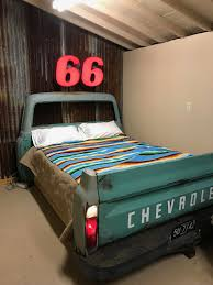 1968 Chevy Queen Size Bed In The Goldsby's Restored 1929 Phillips 66 ...