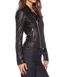 black leather jacket women buzy leather biker jacket in peth