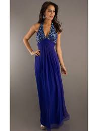 v neck chiffon blue long evening prom formal party maternity