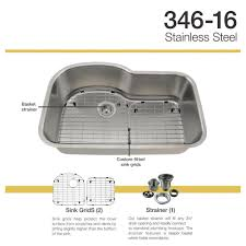 Stainless Steel Sink Grids Canada by 346 16 Gauge Stainless Steel Kitchen Ensemble Bundle 4 Items