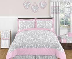 Pink And Grey forter Set Bedroom