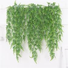 hängepflanzen künstliche pflanzen girlande kunstpflanzen hängende plastikpflanzen für balkon garten hochzeit wand dekoration grün