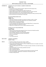 Download Inspector Quality Resume Sample As Image File