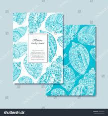 100 Sea Shell Design Hand Drawn S Postcard