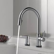 delta faucet 9159t dst trinsic single handle pull down kitchen