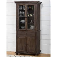 Black China Cabinet With Glass Doors Elegant Jofran 678 98 99 Geneva Hills Small Space