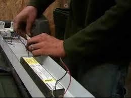 how to install flourescent light ballast