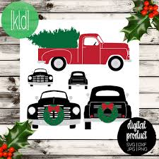 Griswold Christmas Tree On Car by 5 Christmas Truck Svg Old Truck Svg Vintage Truck Svg