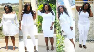 plus size all white loobook featuring fashion to figure youtube
