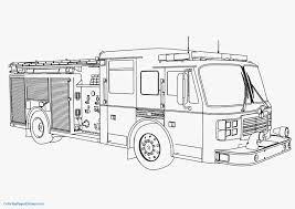Unique Coloring Page Of A Fire Truck - Verikira.com