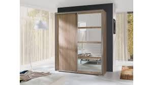 00276 leo schrank wohnzimmer garderobe weiss eiche spiegel
