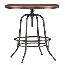 Appealing Industrial Counter Height Dining Table Excellent ...