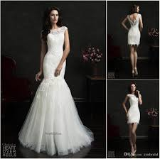 amelia sposa 2015 two piece lace mermaid wedding dresses bateau