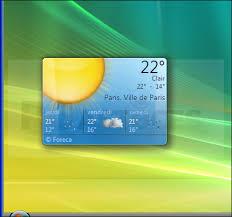 telecharger la meteo sur mon bureau gratuit afficher ses gadgets directement sur le bureau windows vista