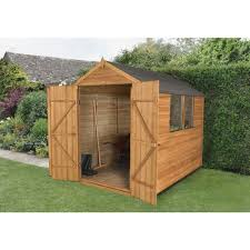6x5 Shed Double Door by Sheds 8 X 6 2 4m X 1 8m Gardening Shop Uk